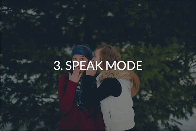 speak mode